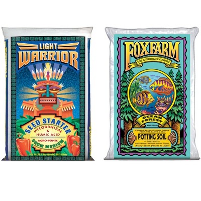 FoxFarm FX14023+FX14000 Light Warrior Seed Germinator & Ocean Forest Plant Soil