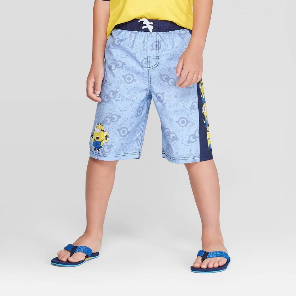 Image of Boys' Minions Swim Trunks - Blue S, Boy's, Size: Small, MultiColored