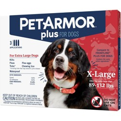PetArmor Plus Flea and Tick Topical Treatment for Dogs - 89-132lbs - 3 Month Supply