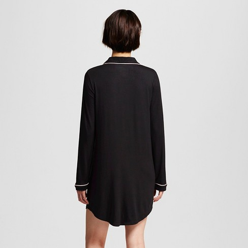 Women\'s Sleepwear Fluid Knit Nightgown - Gilligan & O\'Malley™ Black ...