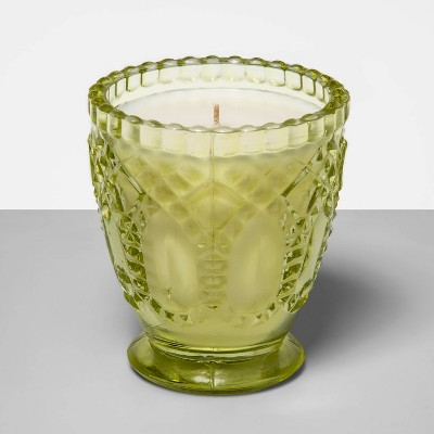 7oz Footed Glass Jar Candle Pineapple & Bamboo Leaf - Fruit Collection - Opalhouse™
