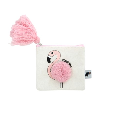 Zipped Coin Purse Flamingo with Tassel - Yoobi™ - image 1 of 1
