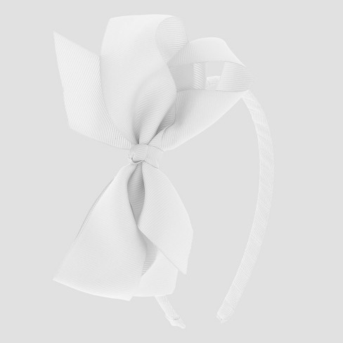 Girls  Side Bow Headband - Cat   Jack™ White   Target 60f2a74b771