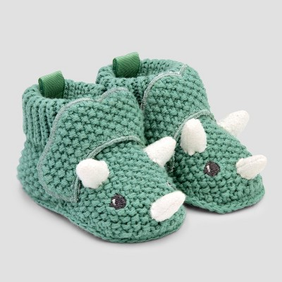Baby Boys' Bootie Slippers - Just One You® made by carter's Green Newborn
