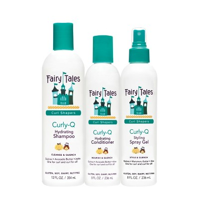 Fairy Tales Curl-Q Hydrating Shampoo + Conditioner + Styling Spray Gel - 28 fl oz