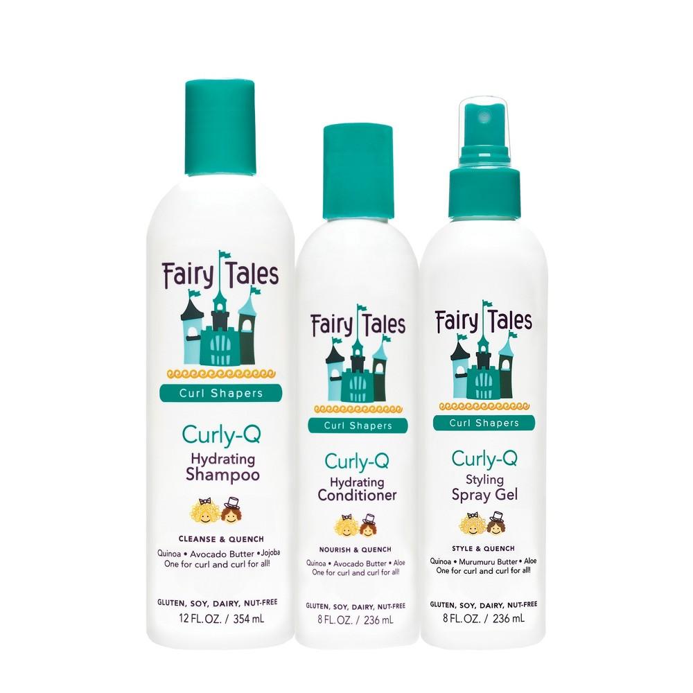 Image of Fairy Tales Curl-Q Hydrating Shampoo + Conditioner + Styling Spray Gel - 48 fl oz