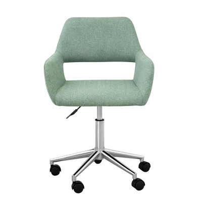 Fabric Swivel Home Office Chair with Adjustable Seat Height Mint - Versanora