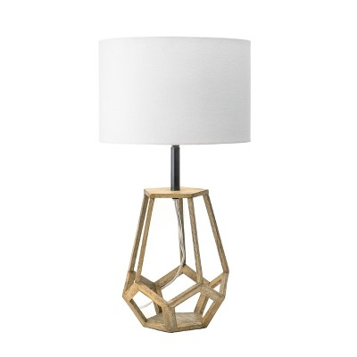 """nuLOOM Chelsea 23"""" Wood Table Lamp Lighting - Natural 23"""" H x 12"""" W x 12"""" D"""