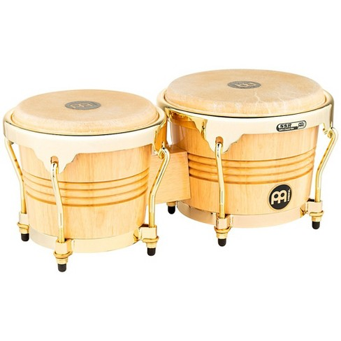 Meinl Rubber Wood Bongos with Gold Tone Hardware Natural - image 1 of 1