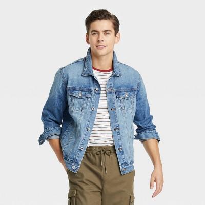 Men's Jim Wash Denim Trucker Jacket - Goodfellow & Co™ Blue