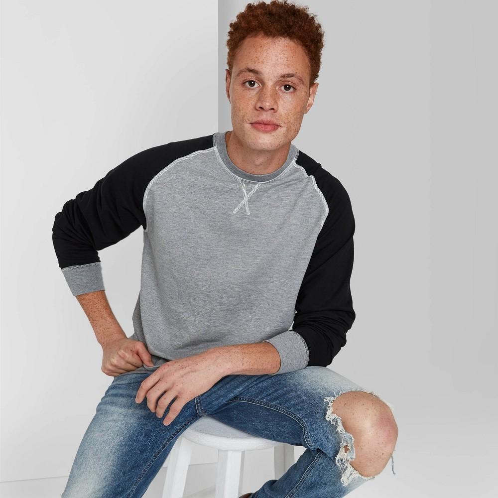 Men 39 S Standard Fit Fleece Sweatshirt Original Use 8482 Black Gray Xs