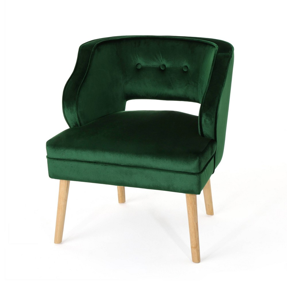 Mariposa Mid Century Accent Chair Emerald (Green) - Christopher Knight Home