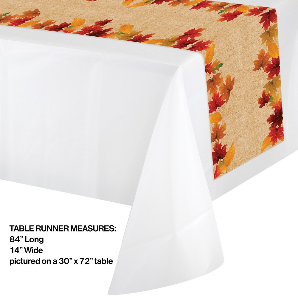 Fall Leaves Plastic Table Runner