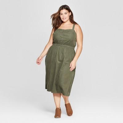 f54c474504 Womens Plus Size Corduroy Midi Dress – Universal Thread™ Olive X ...