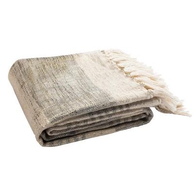 Voleta Metallic Throw Blanket Gray/Gold - Safavieh