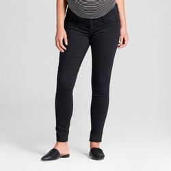 Maternity Inset Panel Skinny Jeans - Isabel Maternity by Ingrid & Isabel™ Black