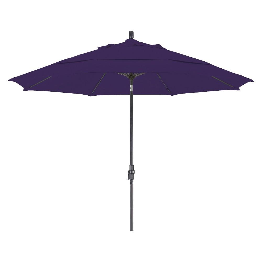 11' Aluminum Collar Tilt Crank Patio Umbrella - Pacifica, Purple