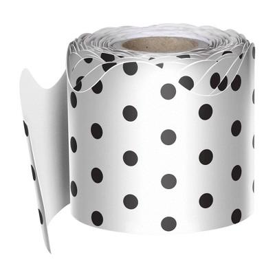 Scalloped Classroom Border White with Black Dots - Carson Dellosa