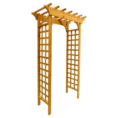 "83"" Garden Decorative Structures Arbor - Brown - Leisure Season - image 1 of 1"