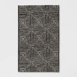 Diamond Pixel Outdoor Rug Black - Project 62™