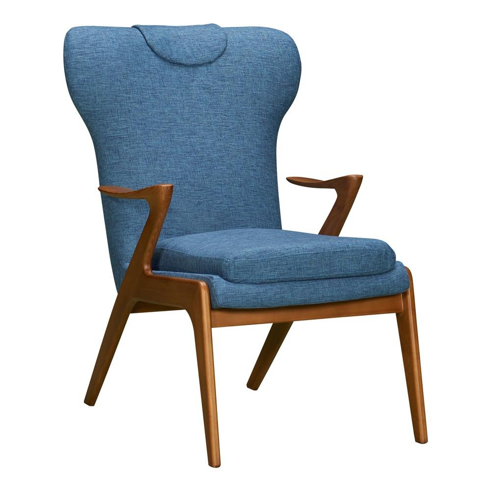 Ubari Mid-Century Accent Chair Blue - Modern Home