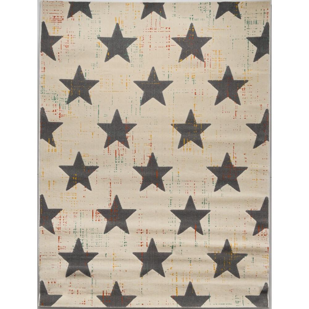 Gray Star Rug (4'x6') - Balta Rugs, Multicolored