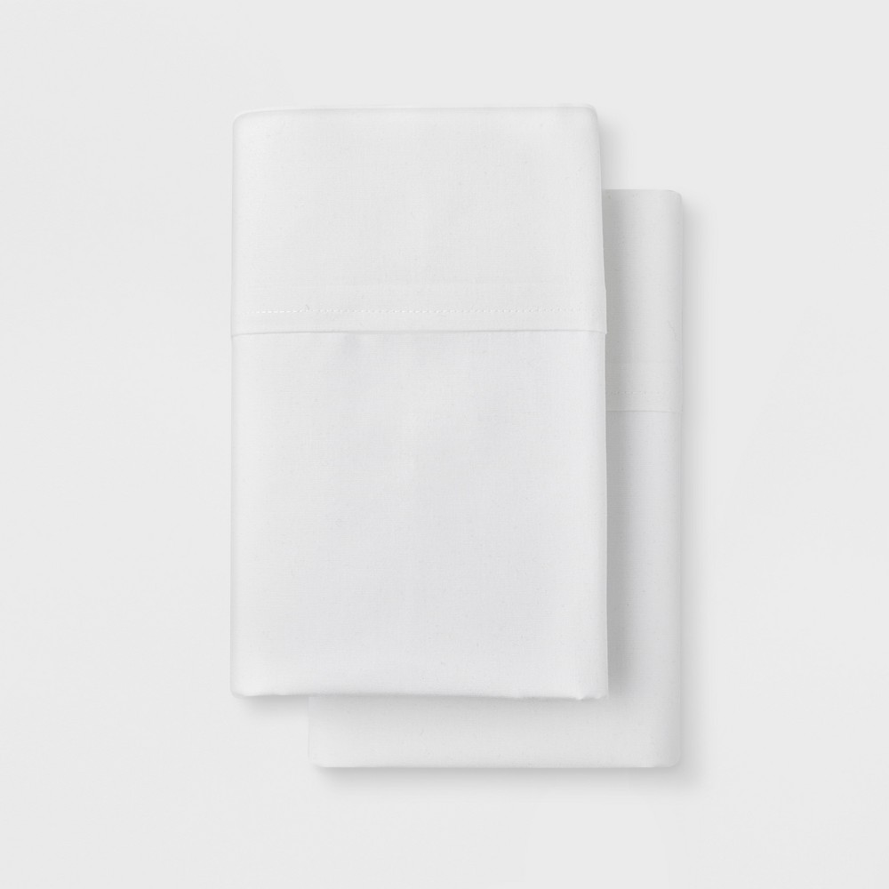 Solid Easy Care Pillowcase Set (King) White - Made By Design