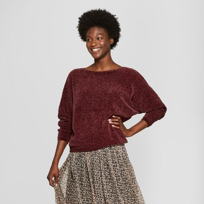 Women's Chenille Pullover - A New Day™ Cottage Red XS
