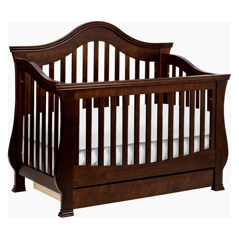 Image of Million Dollar Baby Classic Ashbury 4-in-1 Convertible Crib with Toddler Rail - Espresso, Brown
