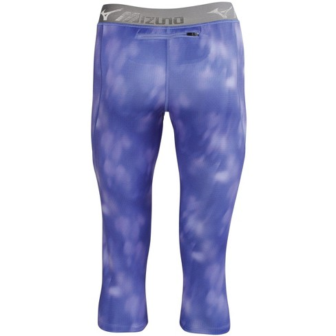 53a2573e90 Mizuno Women's Impulse 3/4 Printed Running Tight, Size Large In Color  Heathered Royal Blue (5L5l) : Target