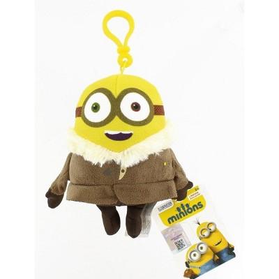 """Commonwealth Toys Minion Movie Winter Minion (2 Eyes) Clip-On 5"""" Plush"""
