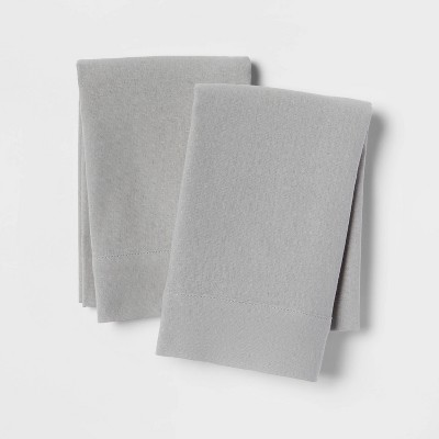 Linen Blend Pillowcase Set (Standard)Gray - Threshold™