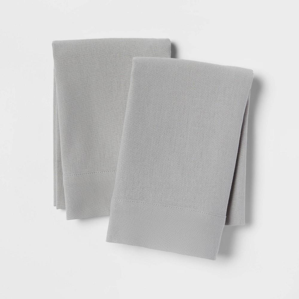Linen Blend Pillowcase Set Standard Gray Threshold 8482