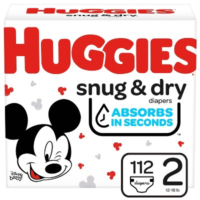 Huggies Snug & Dry Diapers Super Pack - Size 2 - 112ct