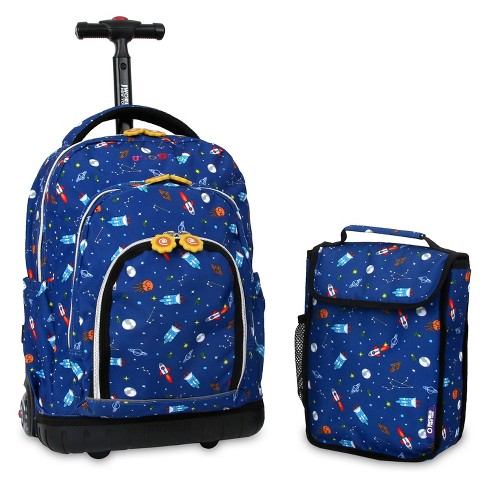 J World Lollipop Rolling Backpack And Lunch Bag - Spaceship - image 1 of 2