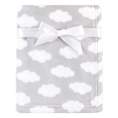 Luvable Friends Unisex Baby Coral Fleece Blanket - Gray Cloud One Size