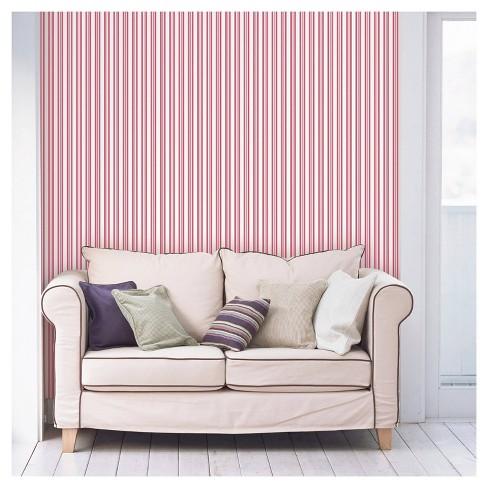 Devine Color Stripe Peel & Stick Wallpaper Pink - image 1 of 1
