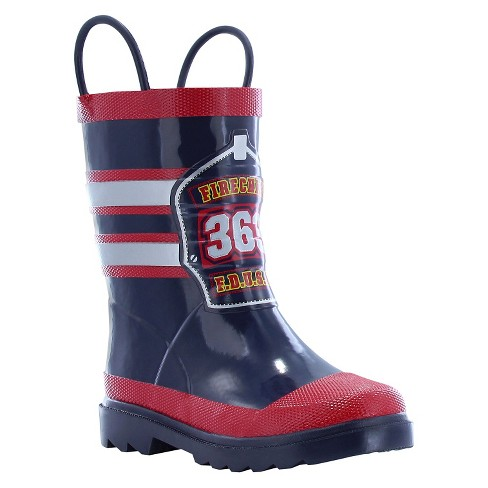 Toddler Boys' Fireman Rain Boots - Red - image 1 of 3