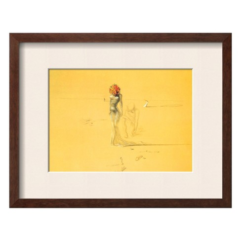 Art.com - Female Figure with Head of Flowers, 1937 Framed Art Print - image 1 of 2