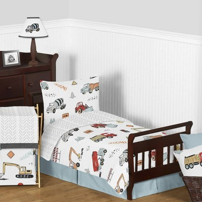 Toddler Construction Truck Bedding Set - Sweet Jojo Designs