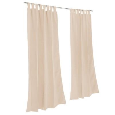 Pawleys Island Sunbrella Outdoor Gazebo Tabbed Solid Curtain Panel