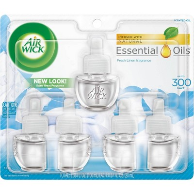 Air Wick Scented Oil Refills - Snuggle Fresh Linen - 5ct