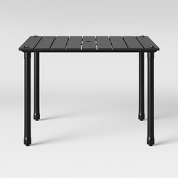 Fernhill 4-Person Patio Dining Table Black - Threshold™