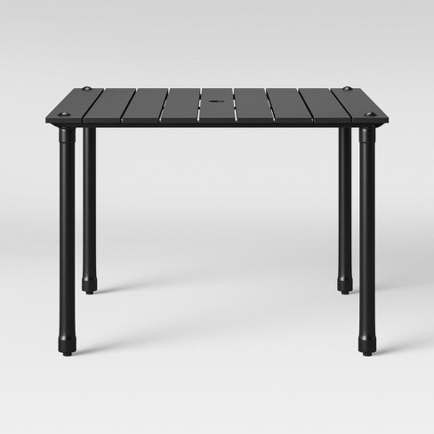 Fernhill 4-Person Rectangle Patio Dining Table Black - Threshold™ - image 1 of 4