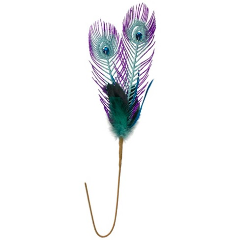 "Northlight 26"" Purple and Blue Peacock Feather with Faux Jewel Christmas Pick - image 1 of 3"