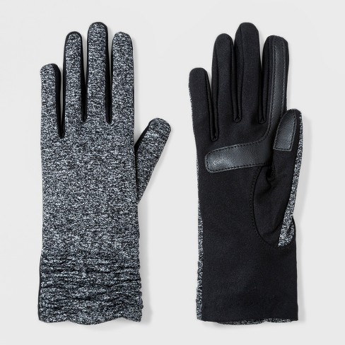 9db175191e9 Isotoner Women s SmartDRI Spandex With Rushed   Smart Touch Unlined Gloves  - Gray   Target