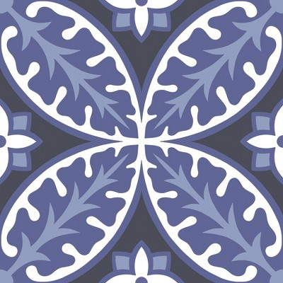 4'x5' Set of 20 Capri Peel & Stick Floor Tiles - Brewster