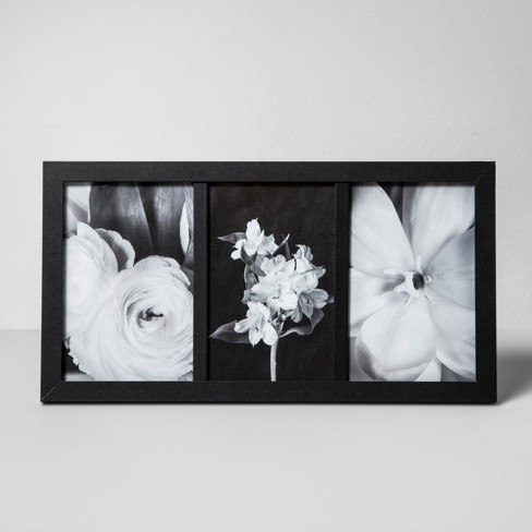 "Thin Frame Holds 3 Photos Black 4""x6"" - Made By Design™ - image 1 of 2"
