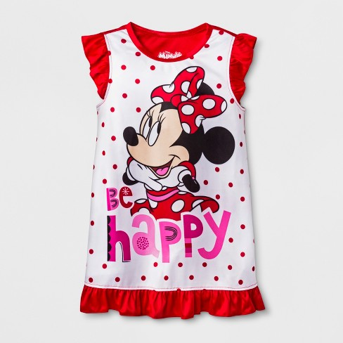 6306c1a354 Toddler Girls  Minnie Mouse Nightgown - Red White   Target