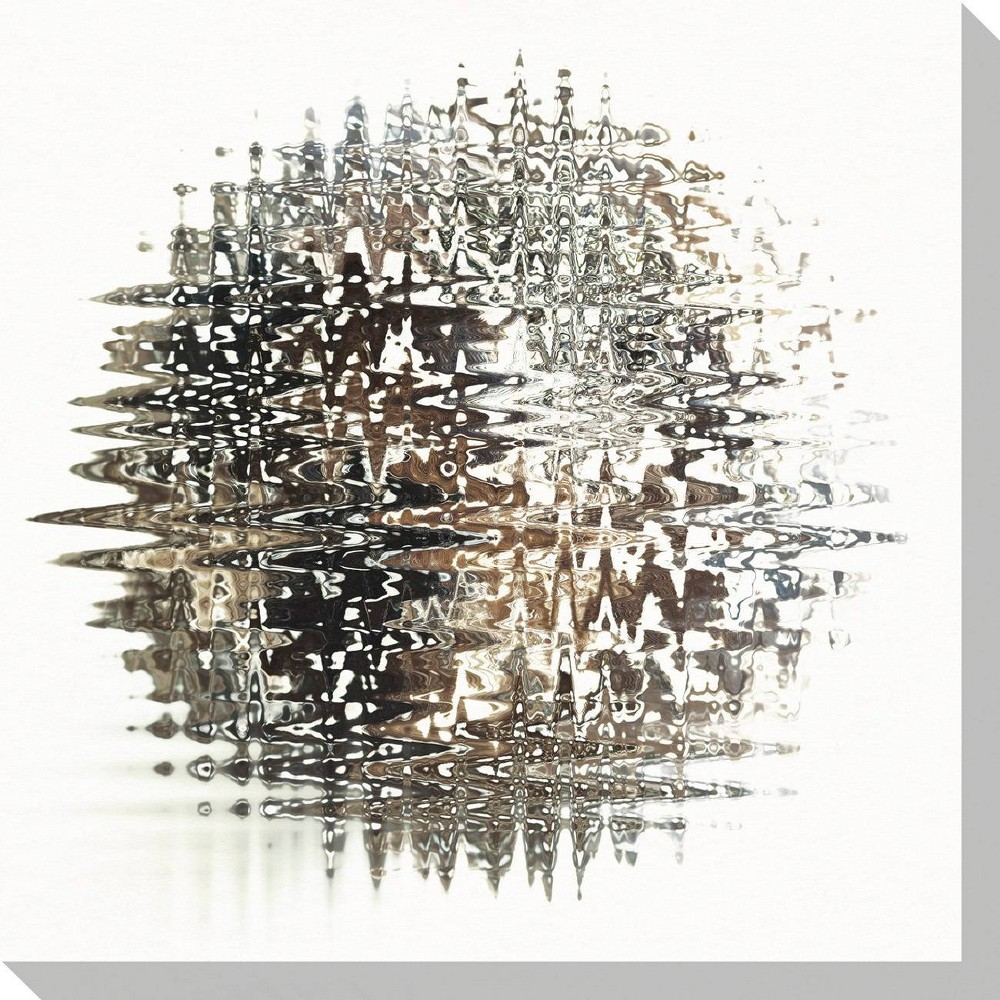 Image of Melting Sphere I Unframed Wall Canvas Art - (24X24)